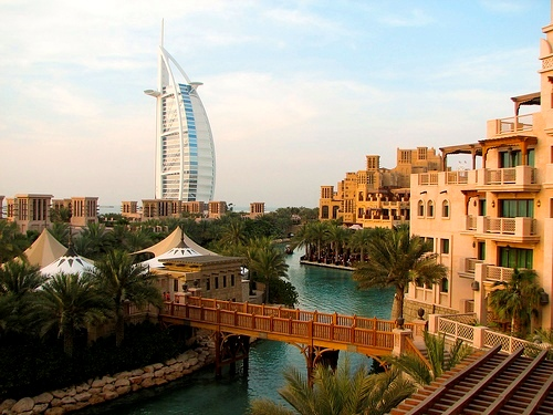 Souq Madinat Jumeirah and Burj al Arab, Dubai, United Arab Emirates