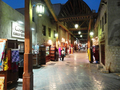 Covered Street in Bur Dubai Textile Souq, Bur Dubai, Dubai, United Arab Emirates