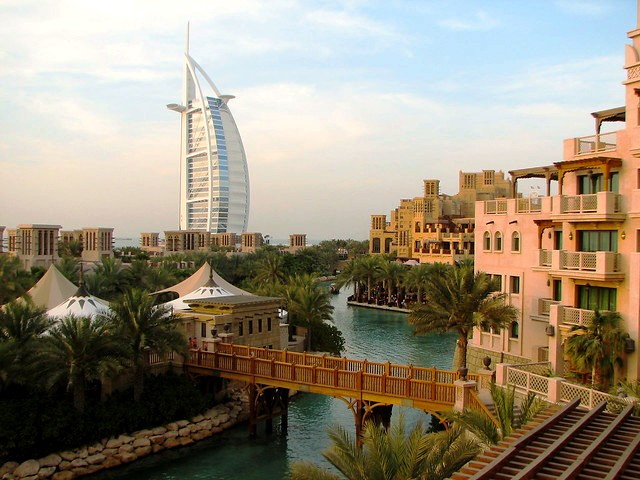 Souk Madinat Jumeirah and Burj al Arab, Dubai, United Arab Emirates