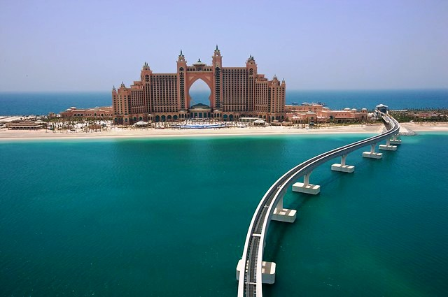 The Atlantis Hotel in Palm Jumeirah Island, Dubai, United Arab Emirates
