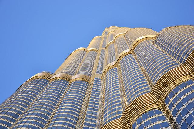 Burj Khalifa from the Bottom, Downtown Dubai, Dubai, United Arab Emirates