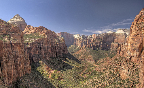 Pine Creek Canyon from Canyon Overlook Viewpoint, Zion National Park, Utah