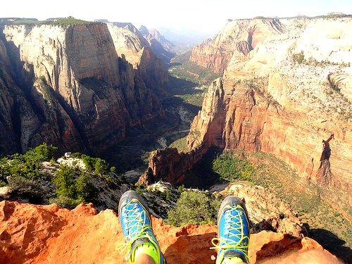 Observation Point high above Zion Canyon, Zion National Park, Utah
