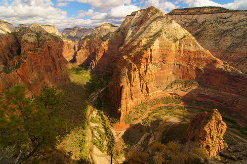 The Big Bend from Angels Landing, Zion Canyon, Zion National Park