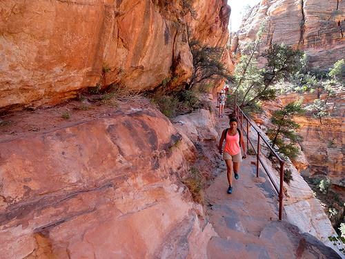 Walking Canyon Overlook Trail in Zion National Park, Utah
