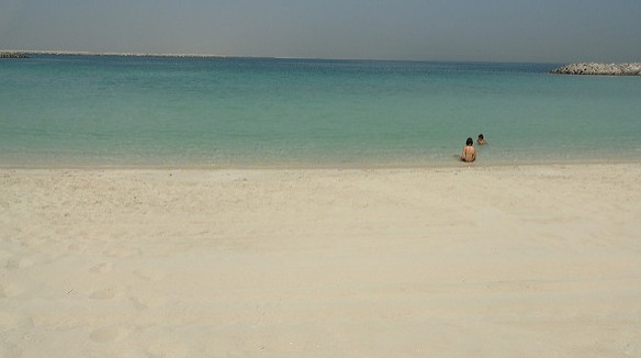 Clear Water in Al Mamzar Beach Park in August Dubai UAE