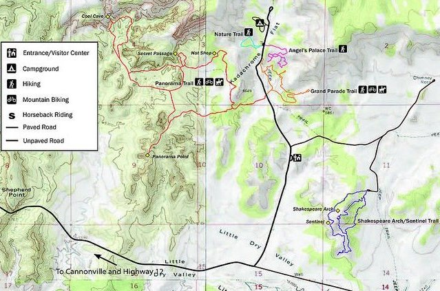 Kodachrome Basin State Park Map by Utah State Parks Official Website