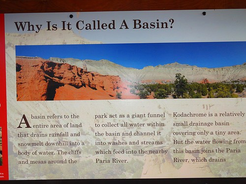 Kodachrome Basin State Park why is it called a basin