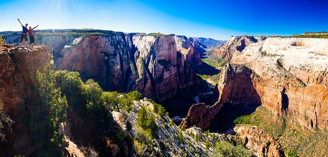 Panorama from Observation Point, Zion Canyon, Zion National Park, Utah