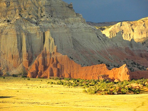 View from Shakespeare Arch and Sentinel Trail in Kodachrome Basin State Park in Utah