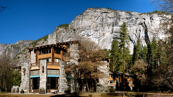 Historic Ahwahnee Lodge, now Majestic Yosemite Hotel, Yosemite Valley, Yosemite National Park, California