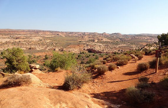 Dry Fork of Coyote Gulch from Dry Fork Trailhead, Grand Staircase-Escalante National Monument, Utah