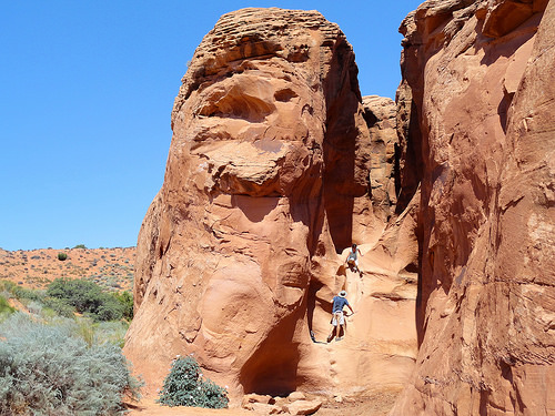 Entrance to Peek-A-Boo Gulch, Dry Fork of Coyote Gulch, Grand Staircase Escalante National Monument, Utah