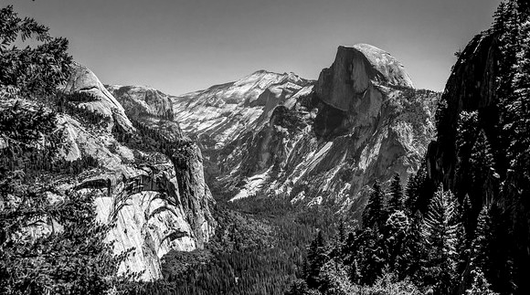 Half Dome from Four Mile Trail, Yosemite National Park, California