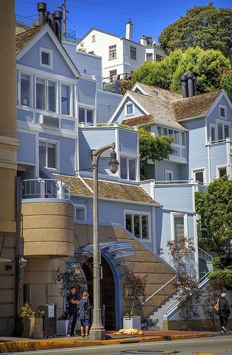 Houses in Sausalito, San Francisco, California