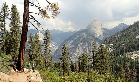 Looking to the Half Dome from Panorama Trail, Yosemite National Park, California