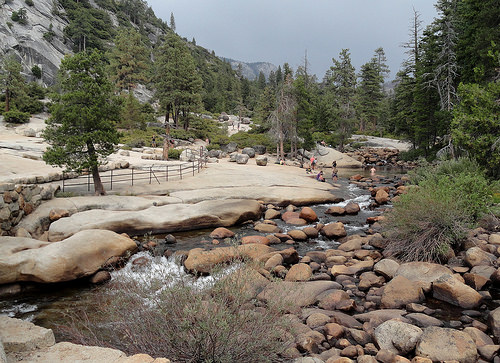 Merced River at the Top of Nevada Fall, Yosemite National Park, California