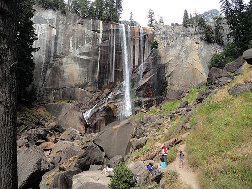 Mist Trail below Vernal Fall, Yosemite National Park, California