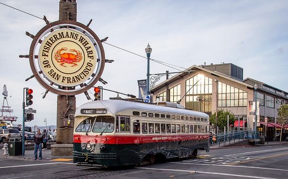 Original Minneapolis-St. Paul Tram, now a Muni Historic F Line in Fisherman's Wharf, San Francisco, California