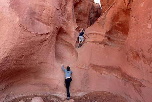Peek-A-Boo Slot Entrance in Grand Staircase-Escalante National Monument in Utah