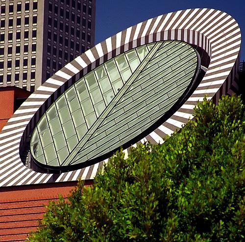 SFMOMA from Yerba Buena Gardens, San Francisco, California