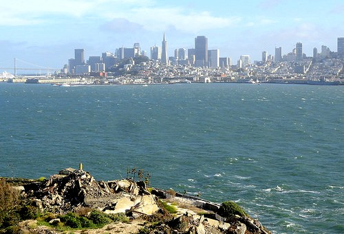 View of San Francisco from Alcatraz Island, California