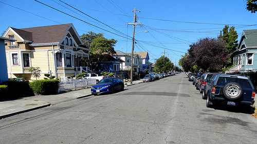 Street in Temescal, Oakland, San Francisco Bay Area, California