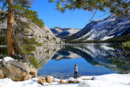 Tenaya Lake, Tioga Road, Yosemite National Park, California