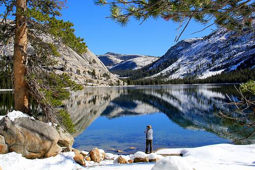 Tenaya Lake, Tioga Road, Yosemite National Park, California