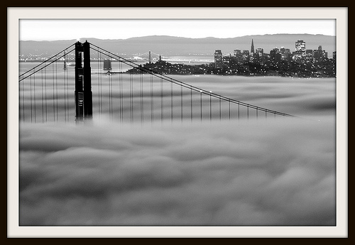 The Fog, the Bridge and the City, San Francisco, California
