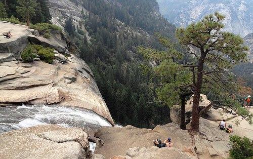 Top of Nevada Fall, Yosemite National Park, California