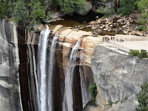 Top of Vernal Fall from Clark Point Cutoff, Yosemite National Park, California