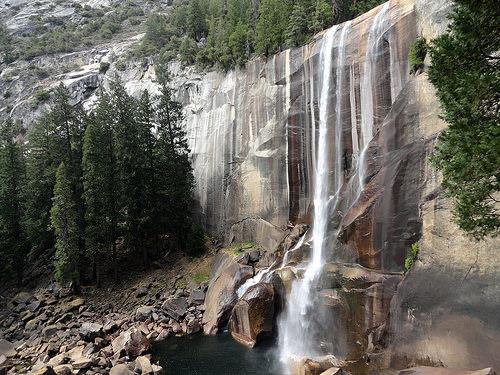 Vernal Fall from Mist Trail, Yosemite National Park, California
