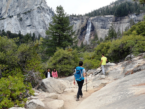 View of Nevada Fall from Clark Point, Yosemite National Park, California