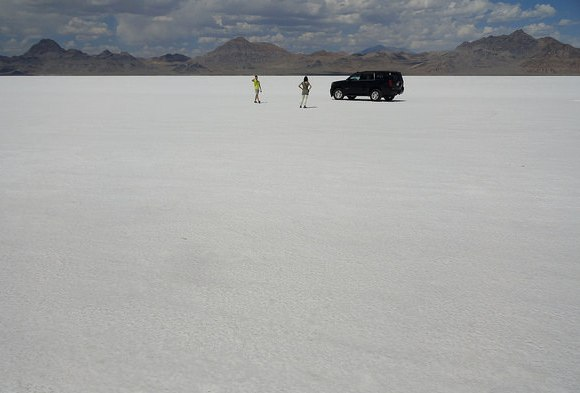 Near the Bonneville Speedway, Bonneville Salt Flats, Utah