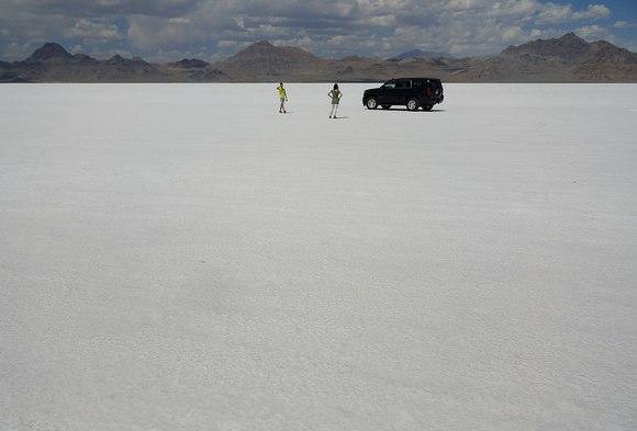 Near the Bonneville Speedway, Bonneville Salt Flats, Utah