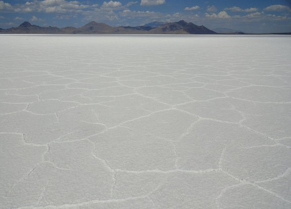 A quarter of mile North of Interstate 80, Bonneville Salt Flats, Utah