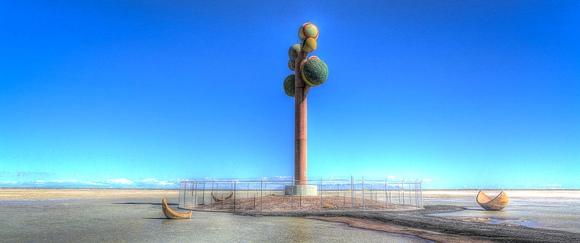 Tree of Utah, Driving Westbound Interstate 80, West of Salt Lake City, Utah