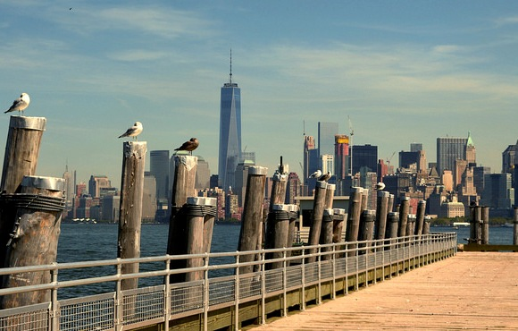 Panorama di New York da Liberty Island