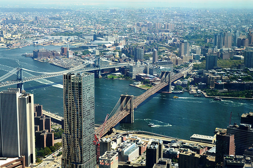 New York ed il Brooklyn Bridge dalla Freedom Tower
