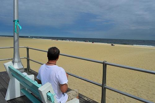 L'Oceano Atlantico da Belmar Beach, Belmar, New Jersey