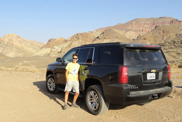 Chevy Tahoe SUV, Titus Canyon Road, Death Valley National Park, California