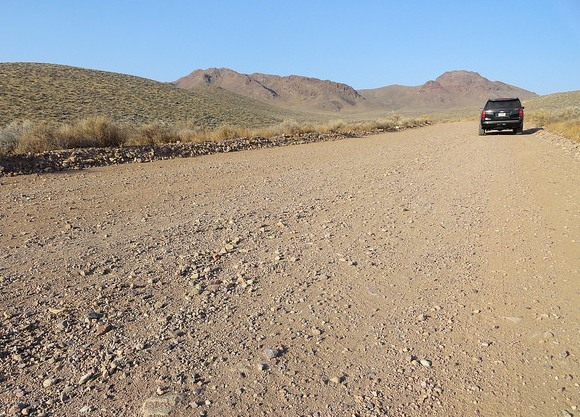 Climbing to White Pass, Titus Canyon Road, Death Valley National Park, California