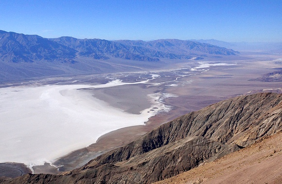 Badwater Basin and Death Valley from Dante's View, Death Valley National Park, California