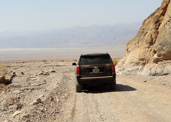 Entering Death Valley from the end of Titus Canyon Road, Death Valley National Park, California