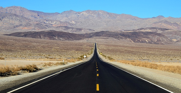Highway in the Death Valley National Park, California