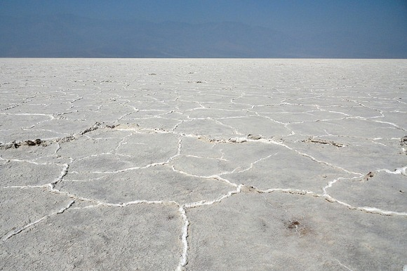 In the Heart of Badwater Salt Flats, Death Valley National Park, California