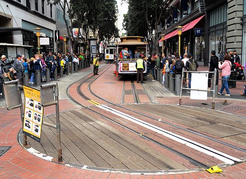 Market St. & Powell St. Cable Car Turntable, near Union Square, San Francisco, California