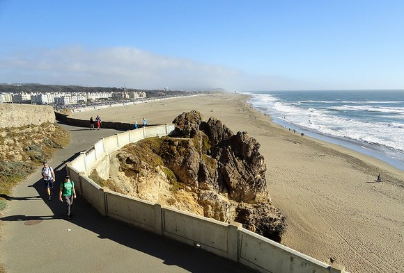 Ocean Beach from the Cliff House, San Francisco, California