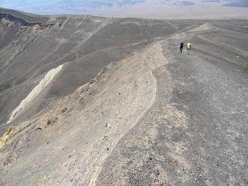 On the rim trail, Ubehebe Crater, Death Valley National Park, California